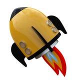 3D illustration of cartoon rocket Stock Photos