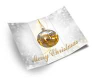 3D Illustration of Christmas brochure Stock Photo