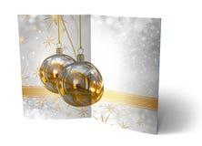 3D Illustration of Christmas brochure Royalty Free Stock Photos