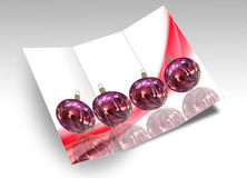 3D Illustration of Christmas brochure Stock Photo