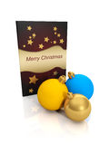3d illustration: Christmas card Royalty Free Stock Images