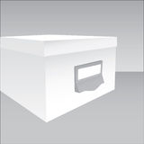 3d illustration of a closed box. In grey tones Royalty Free Stock Image