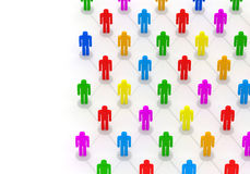 3d Illustration of Colorful People Network Stock Images