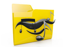 3d illustration: computer music folder icon on a Royalty Free Stock Photo