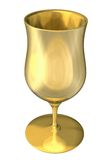 3D illustration of a golden cup Royalty Free Stock Image