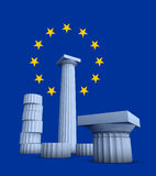 3d illustration on Greece Europe culture Royalty Free Stock Photos