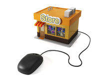3d illustration of internet shop Royalty Free Stock Photography