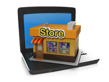 3d illustration of internet technology. Royalty Free Stock Photo