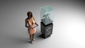 3D illustration of jewelry salon Stock Photos