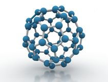 3D illustration molecule model Royalty Free Stock Image