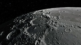 3d illustration of the Moon. Elements of this image furnished by NASA Royalty Free Stock Images