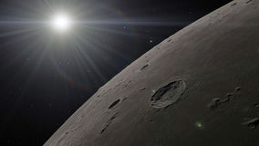 3d illustration of the Moon. Elements of this image furnished by NASA Stock Images