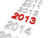 3d illustration: New Year. S holiday. Change's 2013 Royalty Free Stock Photos