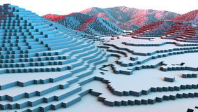 Free 3D Illustration Of Terrain Surface Structure Stock Images - 70446784