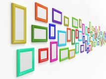 3d illustration of picture frames Royalty Free Stock Photo