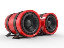 3d illustration of red audio speaker Stock Image