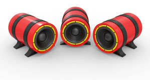 3d illustration of red audio speaker Royalty Free Stock Photography