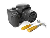 3d illustration: Repair camera, Stock Photography