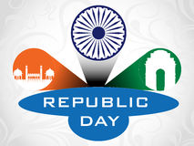 3D  illustration for Republic Day. Stock Photo