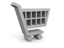 3D illustration of shopping trolley Royalty Free Stock Image