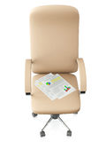 3d illustration: Swivel chair Royalty Free Stock Photos