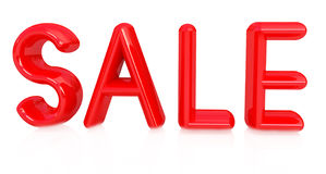 3d illustration of text ' sale'. On white background Stock Photos