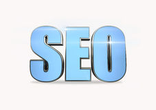 3d illustration of text 'SEO'. Search engine optimization - SEO on a white background Stock Photos