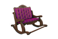 3D illustration two local arm-chair Royalty Free Stock Photography