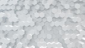Free 3D Illustration White Geometric Hexagon Abstract Background. Surface Hexagon Pattern, Hexagonal Honeycomb. Royalty Free Stock Photography - 143538707