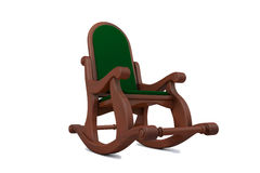 3D illustration of wooden arm-chair Royalty Free Stock Image