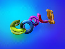 3D illustration of the word Cool! Royalty Free Stock Photography