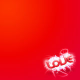 3D illustration of the word Love Red mini Stock Photos