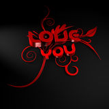 3D illustration of the words Love and You Stock Photos