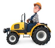 3d Illustration Work Is Going On The Tractor Royalty Free Stock Image