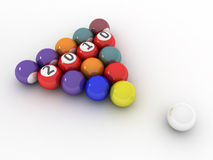 3D Image Of 2010 (Pool/Billiard Balls). 3D Image Of 2010 Isolated (Pool/Billiard Balls) On Soft White Plane vector illustration