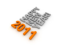 3D Image Of 2011 (Orange). On Soft White Background royalty free illustration