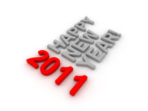 3D Image Of 2011 (Red). On Soft White Background With Years Increasing Royalty Free Stock Images