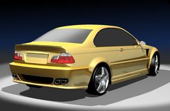 3D image of BMW M3. 3D render of BMW M3. Redesigned by myself Vector Illustration
