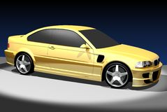 3D image of BMW M3. 3D render of BMW M3. Redesigned by myself Royalty Free Illustration