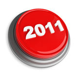 3d image of button 2011. White background Stock Photos