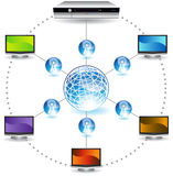 3D Image of DVR Connecting Networks Royalty Free Stock Photography