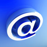 3d image of email symbol. Background Royalty Free Stock Image