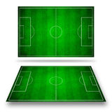 3d image of green soccer field Royalty Free Stock Image