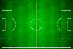 3d image of green soccer field Stock Images