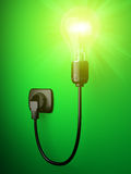 3D image shone electric bulb Royalty Free Stock Photography