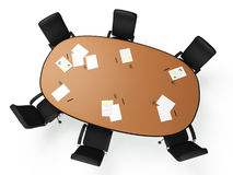 3D images: a large round table Stock Photography