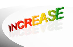 3D increase chart Stock Photo