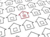 3d individueel huis stock illustratie