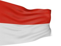 3D Indonesian flag Stock Image