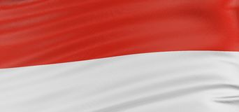 3D Indonesian flag Royalty Free Stock Photos